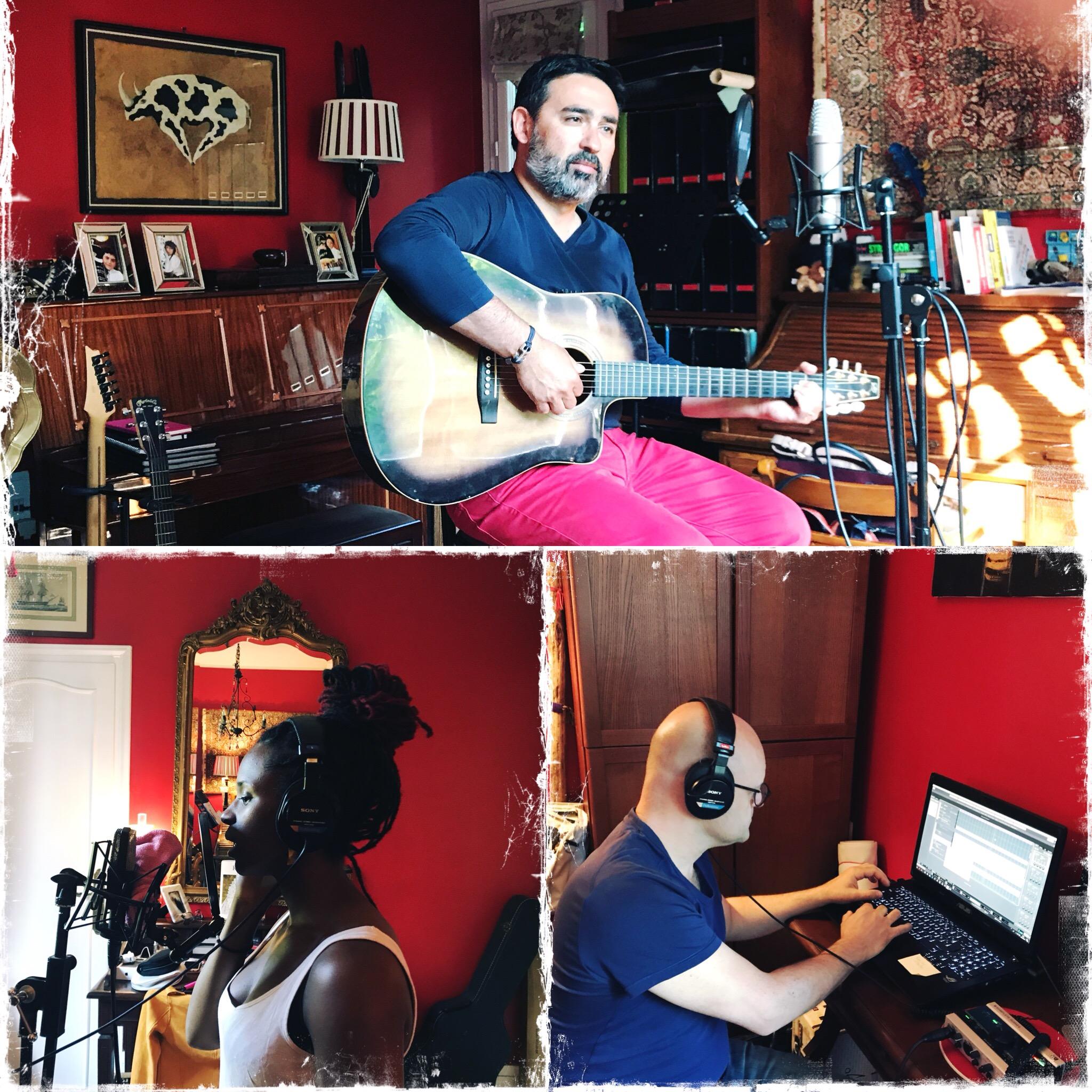 """Jowana, David & Pascal en studio pour """"L'Hiver"""""""
