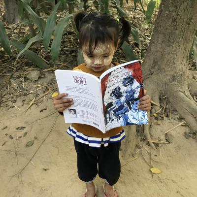 Lecture et illustrations au Môn Village - Thaïlande
