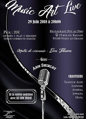 Music art live 29 juin 2018