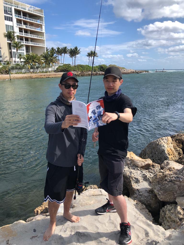 Pêcheurs à Boca Raton, Florida